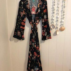 5d08babb0f10a Farm Rio Dresses | Summer Flower Wrap Dress | Poshmark